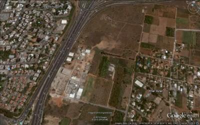 מקהלה הונגרית - צילום לווין של איזור הפרדס בין כפר אזר וכביש גהה
