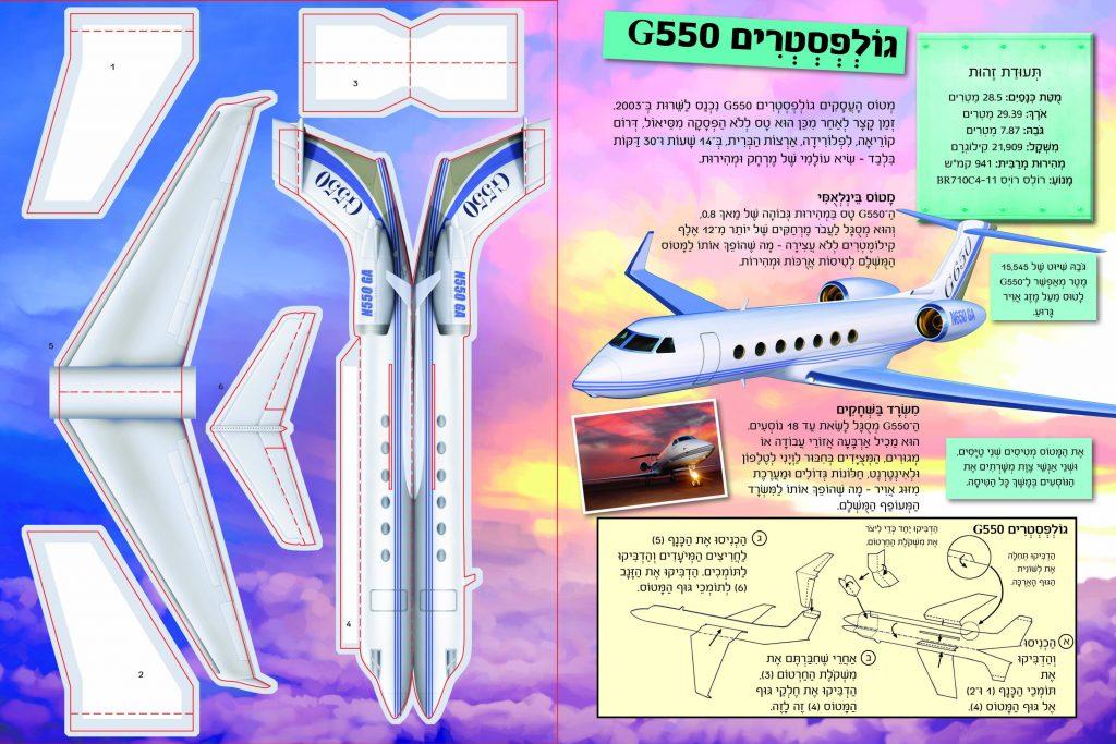 דף דוגמה מהספר מרכיבים בכיף מטוסים