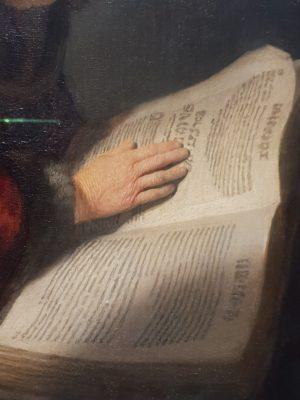 הנביאה חנה (פרט)- רמברנדט - רייקס